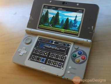 Autocollants style SNES pour la New 3DS (et non la version XL)