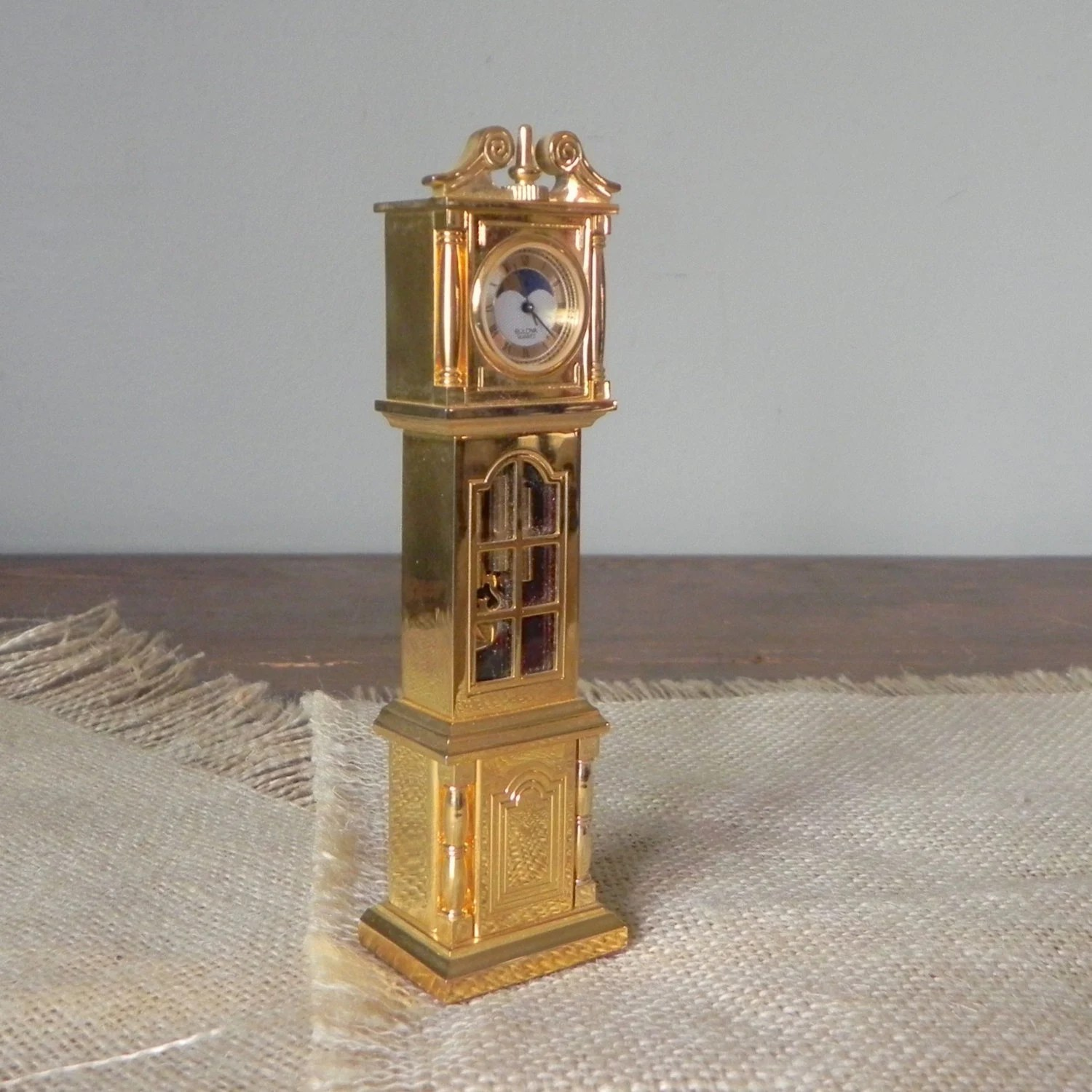 Vintage Bulova Boutique Grandfather Clock Collectible