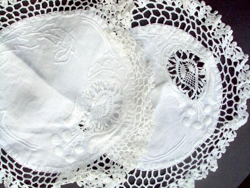 Vintage Doilies Crochet Needlework Embroidery 1920s