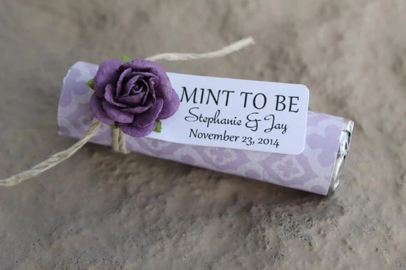 Items Similar To 24 Purple Wedding Favors With A