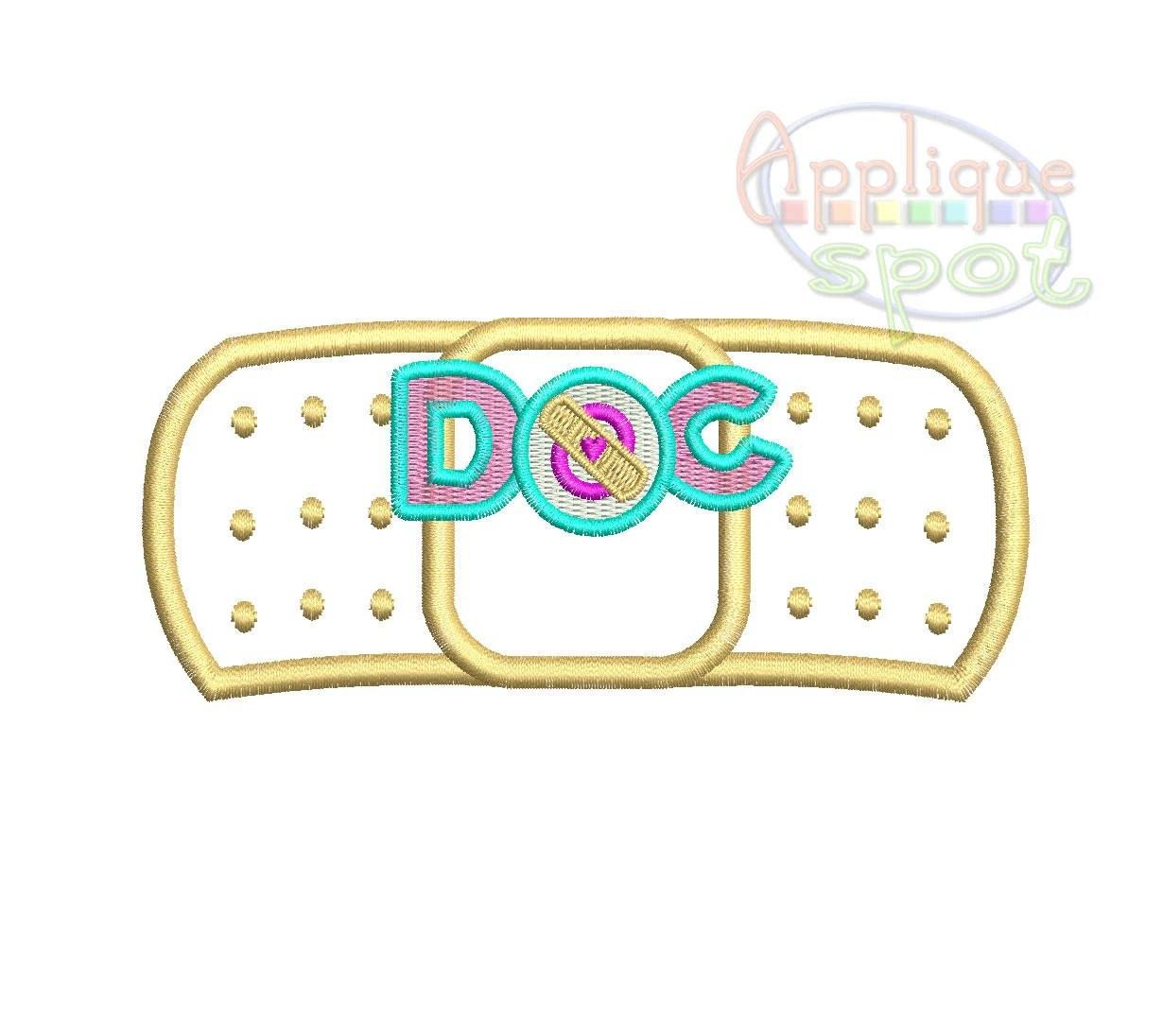 Bandaid Doc Mcstuffins 4 Sizes 1x2 5 4x4 5x7 6x10 By Appliquespot