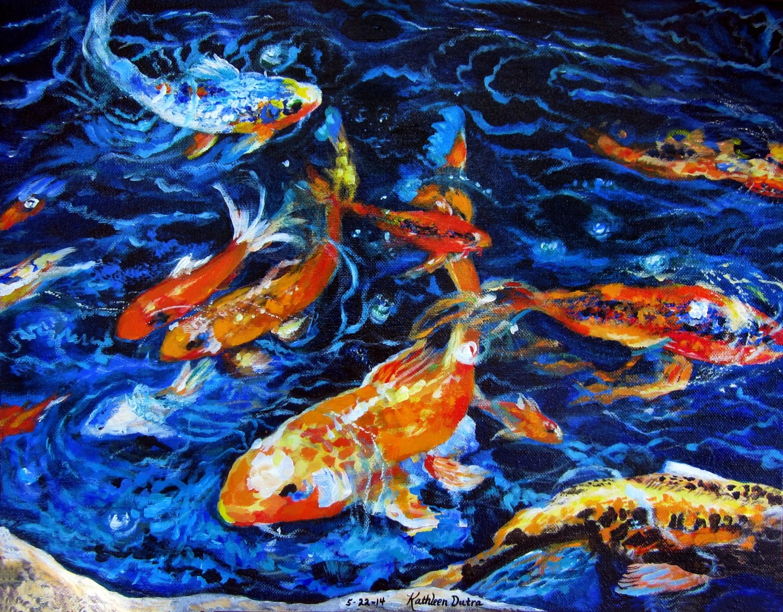 Koi Acrylic Fish Painting
