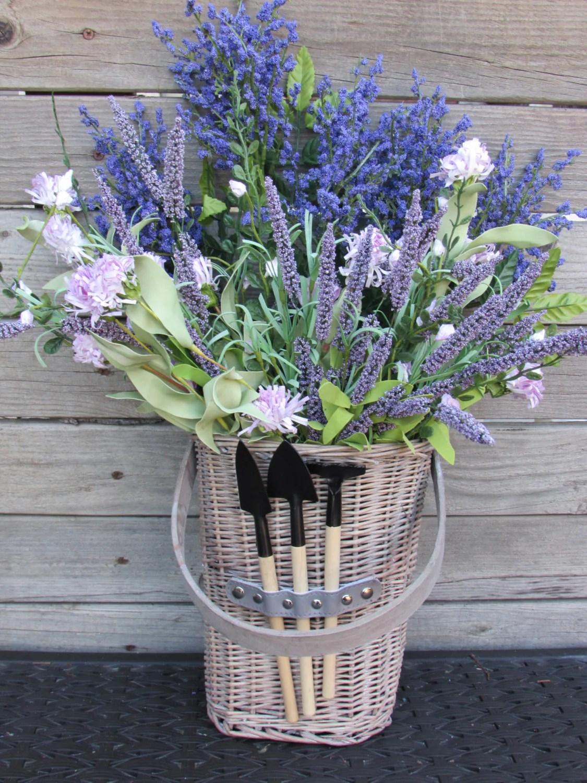 Hanging Flower Basket Floral Basket Door Decor Lavender on Decorative Wall Sconces For Flowers Hanging Baskets Delivery id=67013