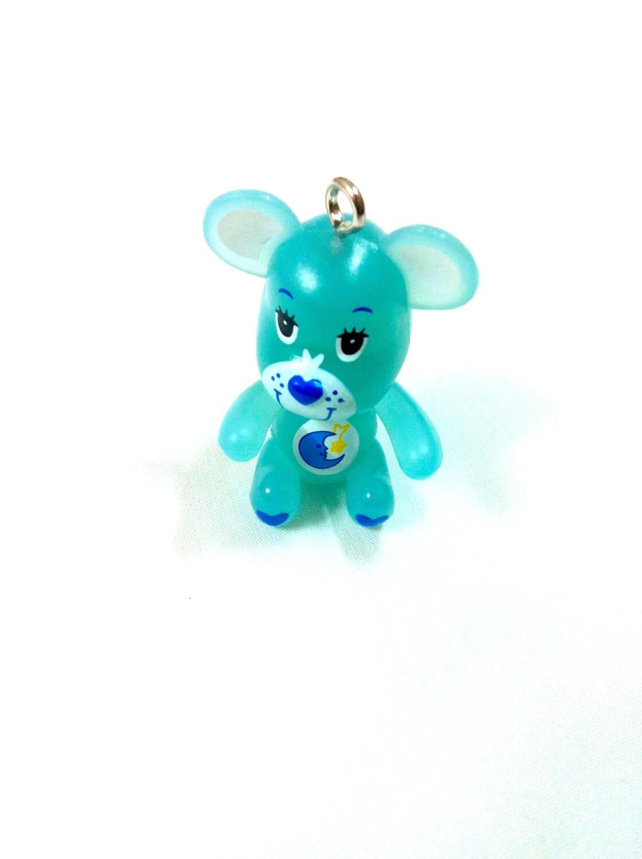 Blue Good Night Care Bear Inspired Teddy Bear Charm 1pc