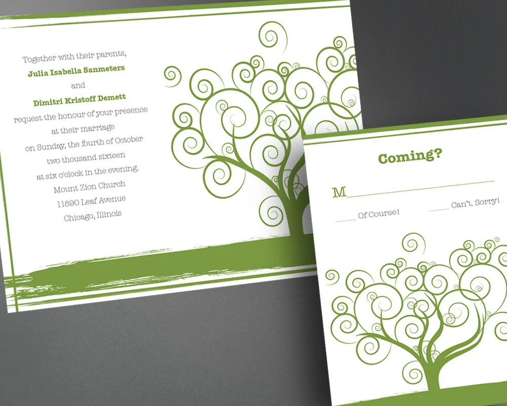 Wedding Invitation PDF Printable Wedding Invitation DIY Wedding Invitations Casual Wedding