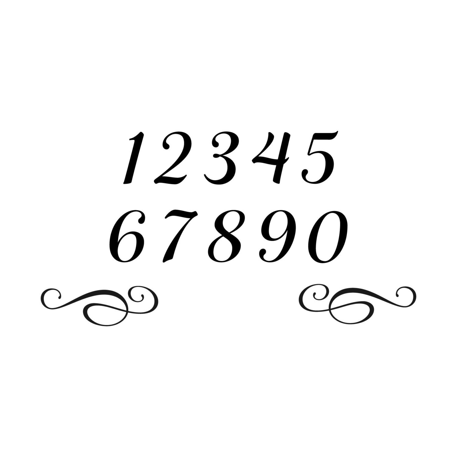 Front Door Decal House Number Decorative By