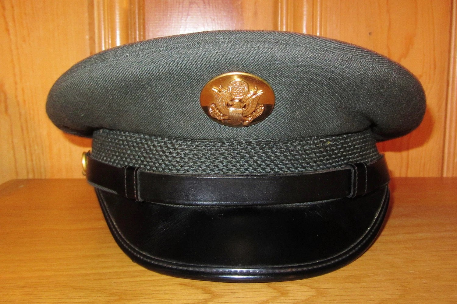 Us Army Officer 1967 Military Green Service Dress Hat
