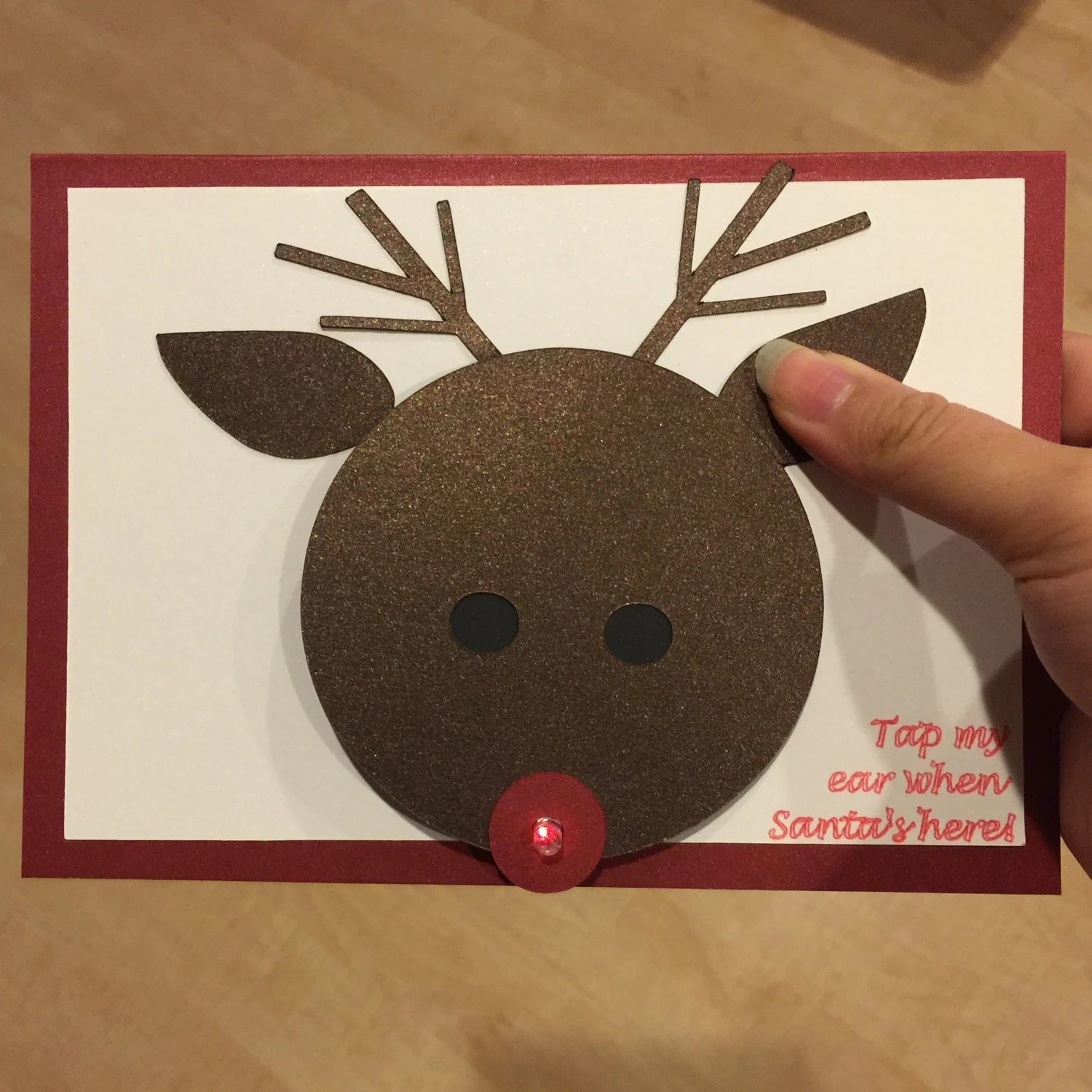 Items Similar To Reindeer Light Up Christmas Card On Etsy