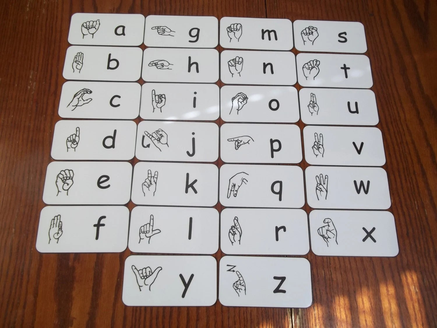 American Sign Language Alphabet Flash Cards Early Learning