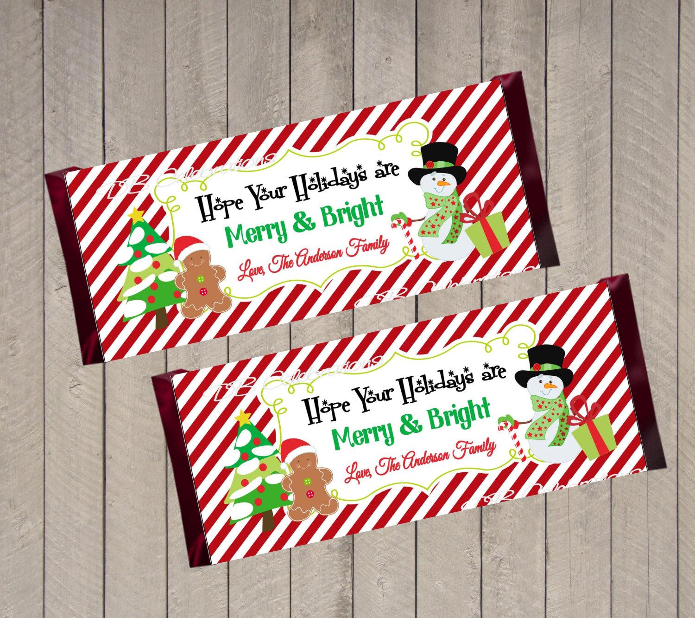 Printable Snowman Hershey Bar Wrapper In