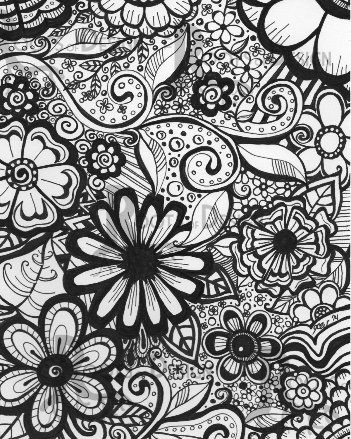 The 21 Best Ideas For Printable Zentangle Coloring Pages