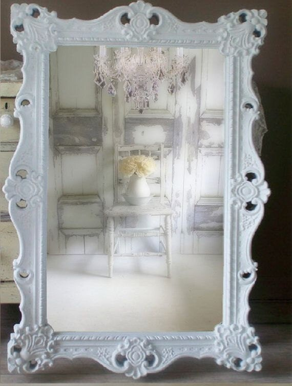 w h i t e baroque mirror extra large