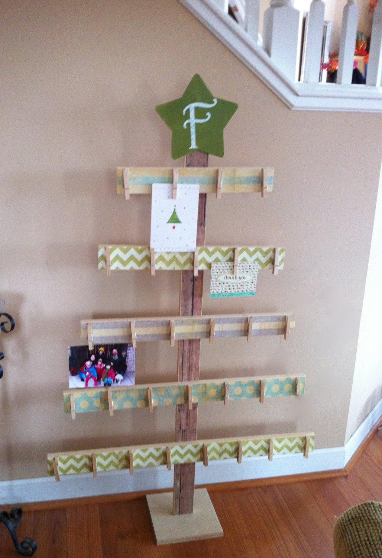 Tree Card Holder 4ft Card Holder Rustic Christmas Wood