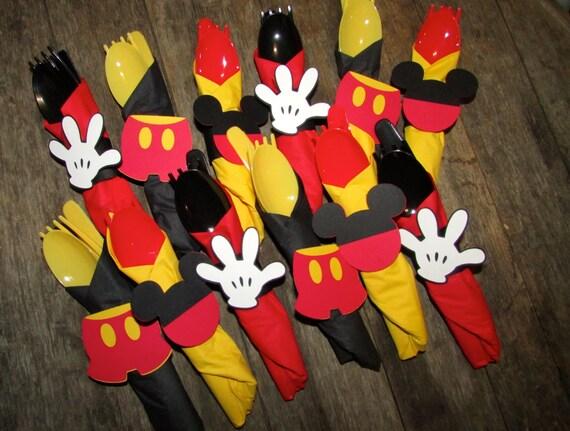 Mickey Mouse Themed Napkin Rings Hand Glove Pants Mickey