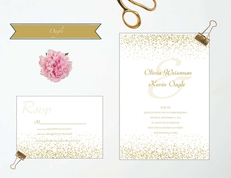 Sale confetti wedding invitation onepaperheart for Wedding invitation paper for sale