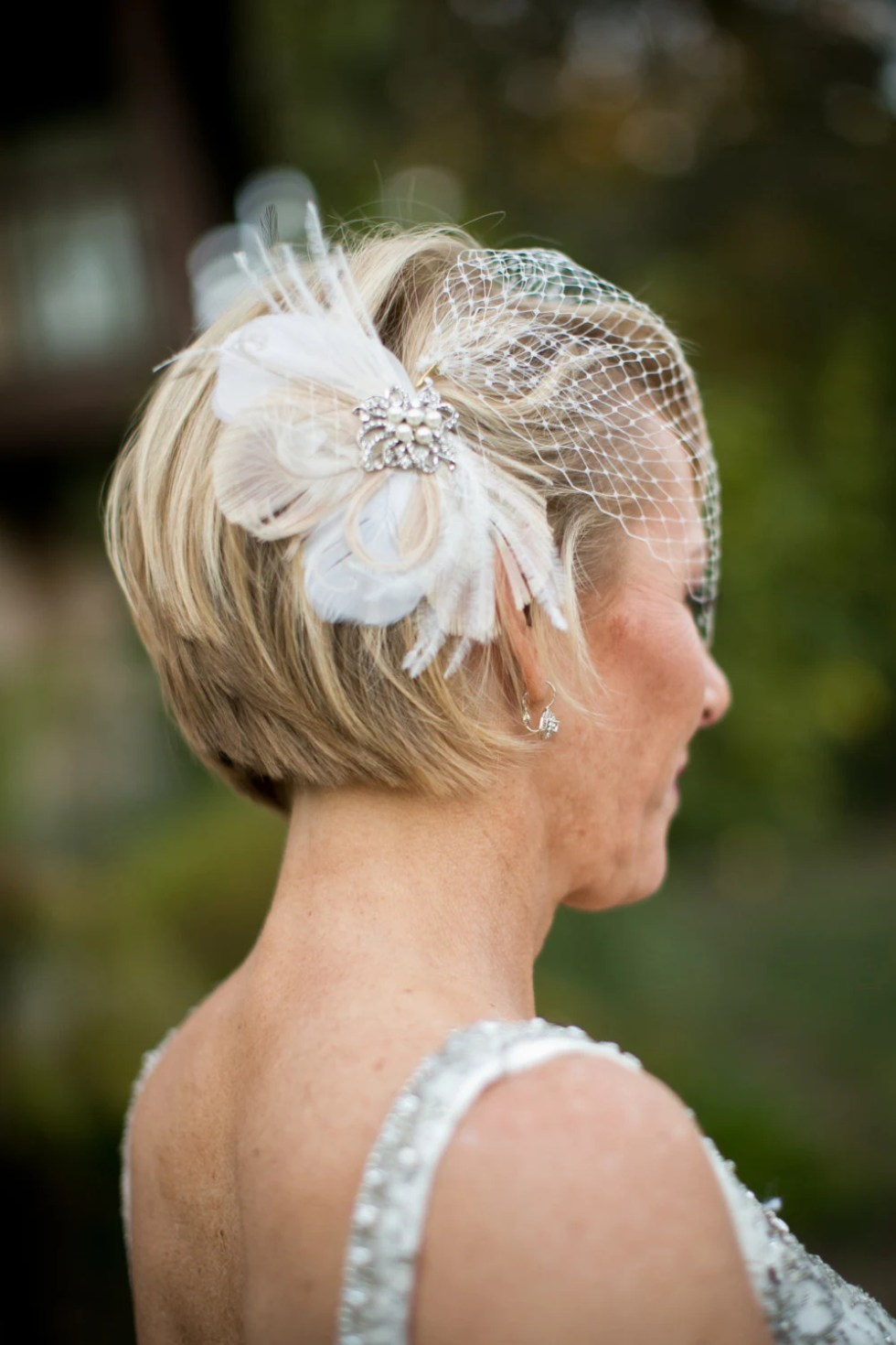 Bridal Feather Fascinator with Brooch, Bridal Fascinator, Wedding Hair Accessories, Fascinator, Hair Clip, Bridal Veil, Birdcage Veil, Ivory
