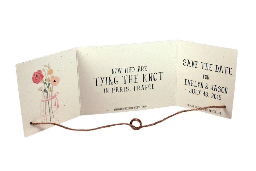 Save Date Cards Knot