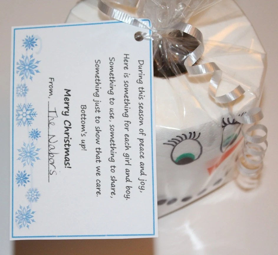 Toilet Paper Christmas Neighbor Gift Tag By PattisProjects