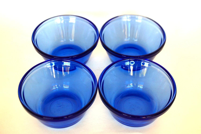 Anchor Hocking Cobalt Blue 6 Ounce Custard Cups Set Of 4