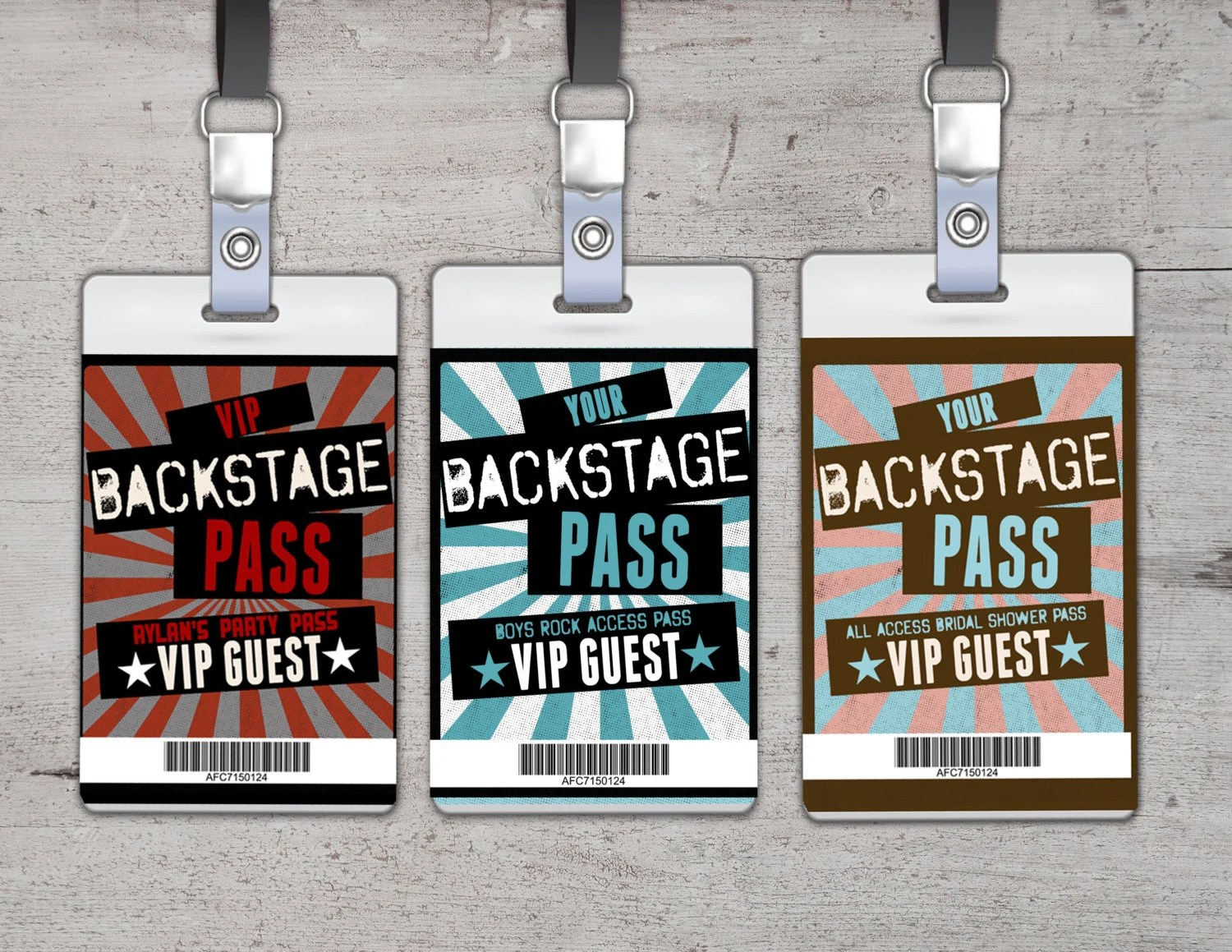 Funky Backstage Pass Template Ensign - Resume Template ...