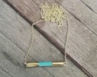 On Sale- Limited Addition- Native American - Bar Necklace, Bullets - Minimalist - Turquoise Pendant