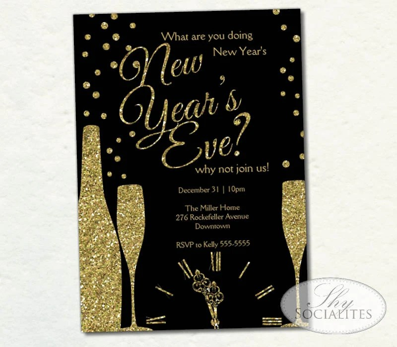 gatsby new year invitation