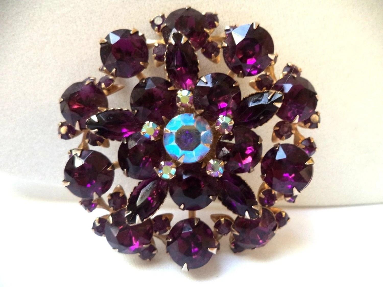 Judy Lee 1940 1950 LARGE Gorgeous Vintage Unsigned AB Purple