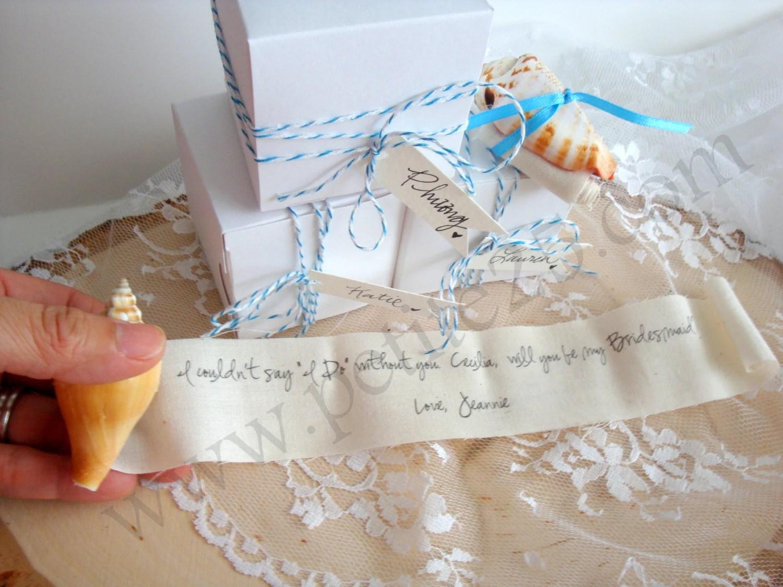 Gift Ideas For Bridesmaids Destination Wedding : ... bridesmaid invitation, maid of honor beach destination wedding