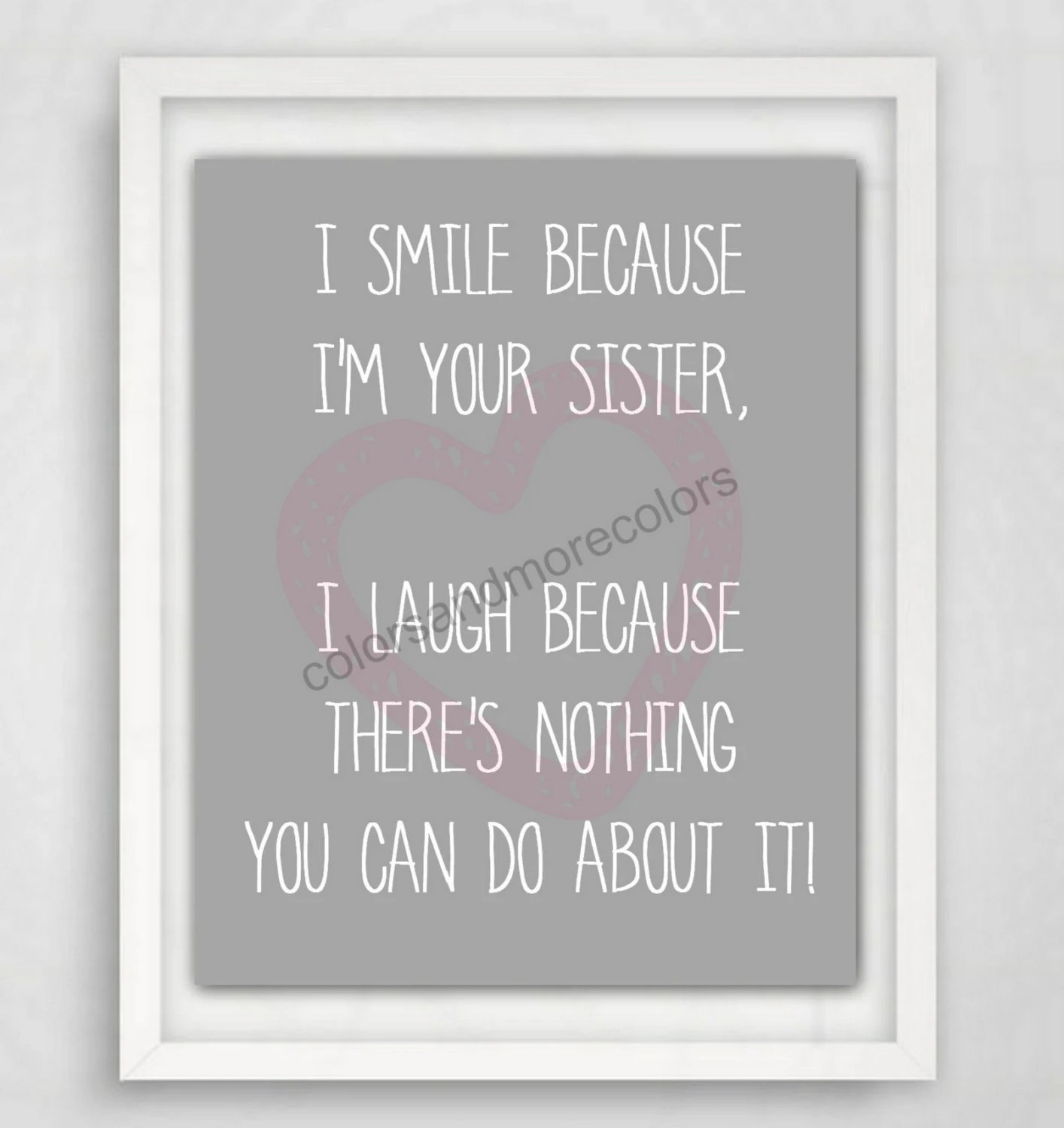 T For Sister Printable T Printable Quote Sister