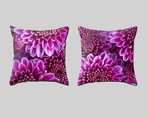 Purple Chrysanthemum Pillow Covers Set Of 2 Living Room