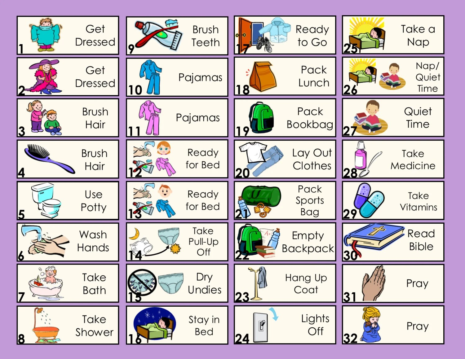 5 Extra Chore Tokens For Allowance Chore Chart Or To Do List