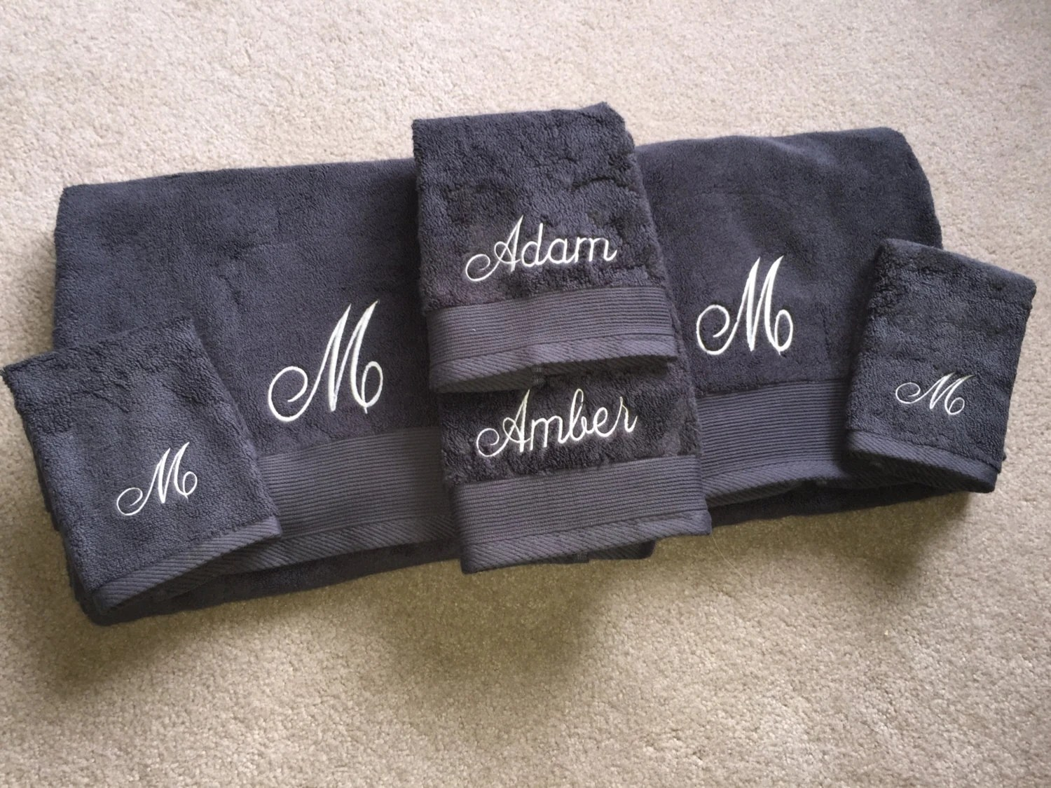 Wedding Gift/college Embroidered Towel Set