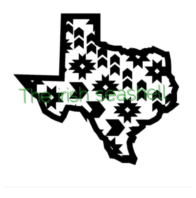 Aztec Texas Svg Dxf File
