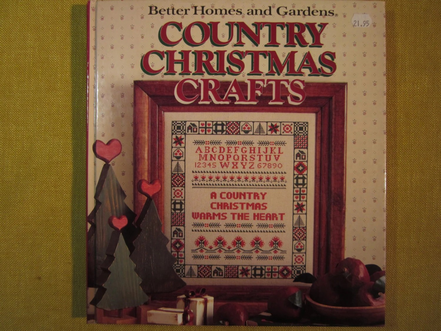 Better Homes And Gardens Country Christmas Crafts 1989 Cross