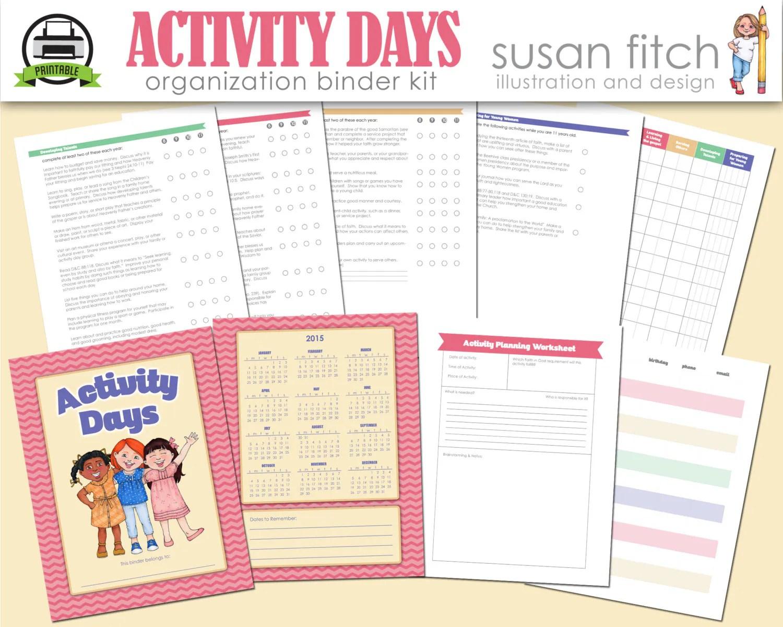 Lds Activity Days Binder Kit By Susanfitchdesign On Etsy