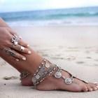 Coachella Boho Chic Statement Bohemian Bracelet Gypsy Turkish Coin Tribal Jewelry also wears as an Anklet