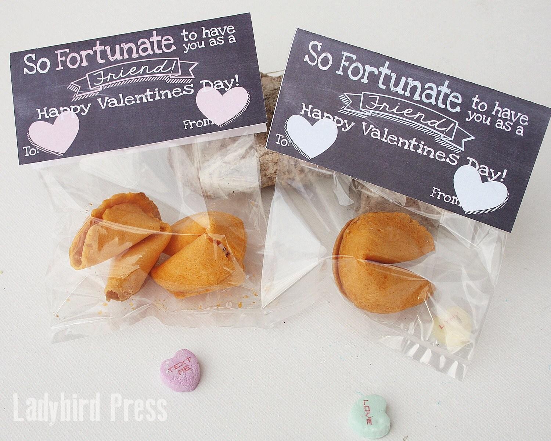 Valentines Day Printable Fortune Cookie Valentine