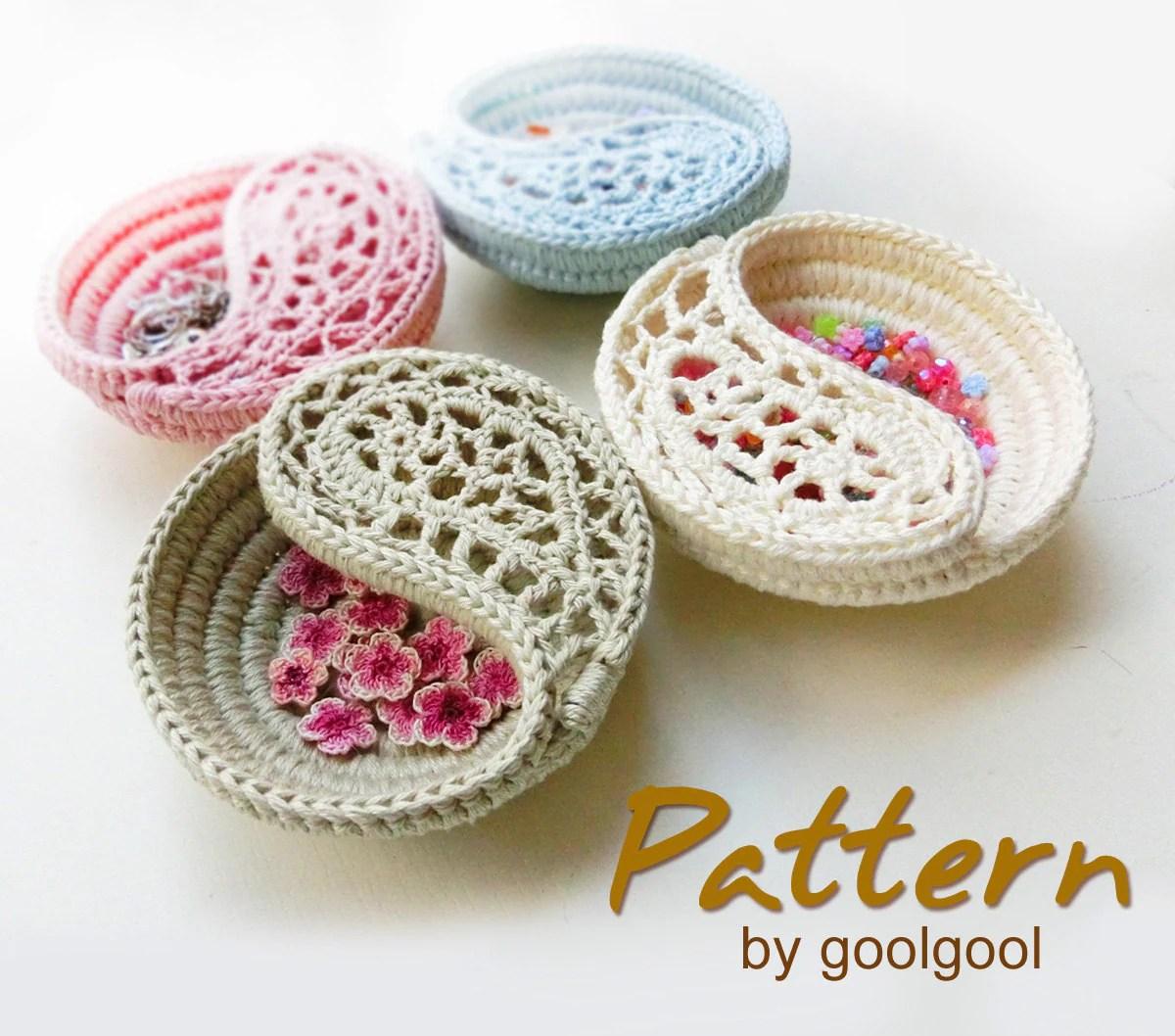 CROCHET PATTERN 4 Yin Yang Dish Freeform Crochet By Goolgool