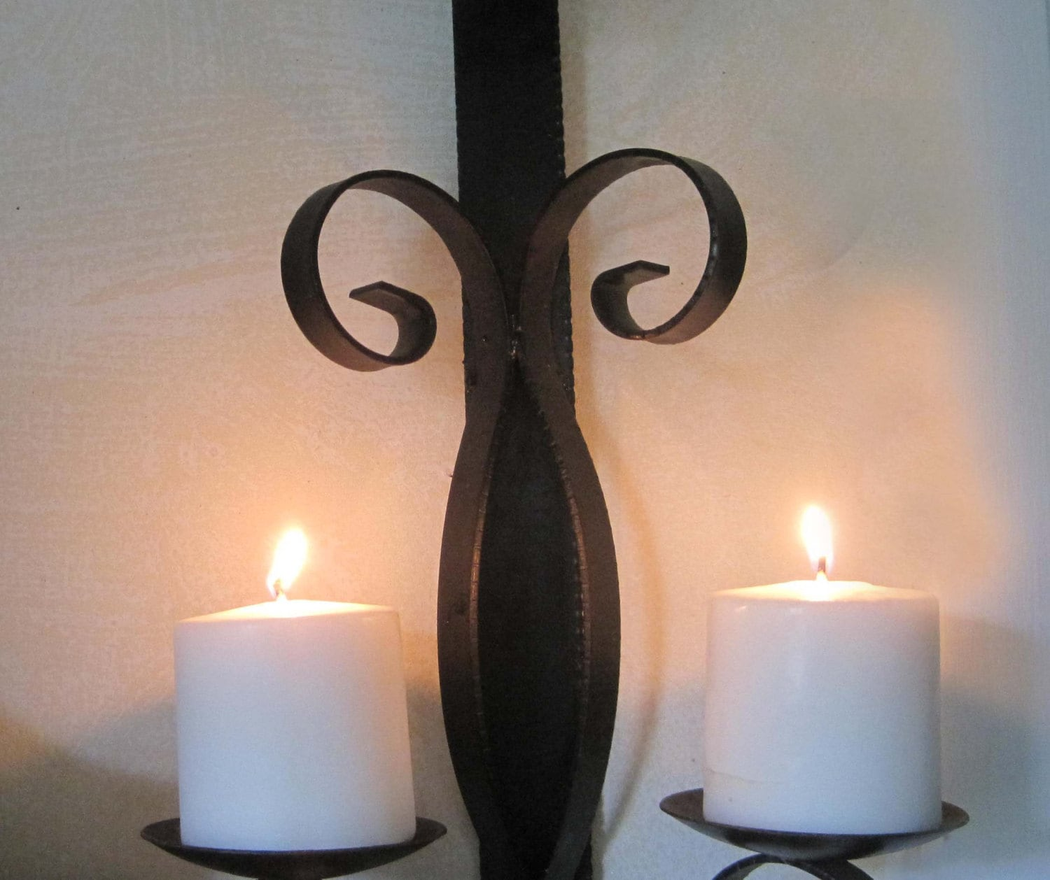 Wrought Iron Candle Holder Wall Sconce Black Medieval on Black Wrought Iron Wall Candle Holders id=62622