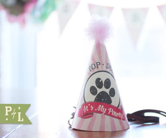 Printable Birthday Hat Dogs