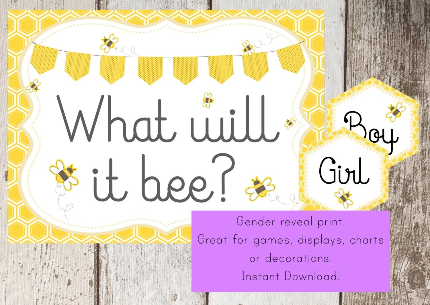 Bumble Bee Baby Shower Printable Sign Baby Bee Bumble Bee