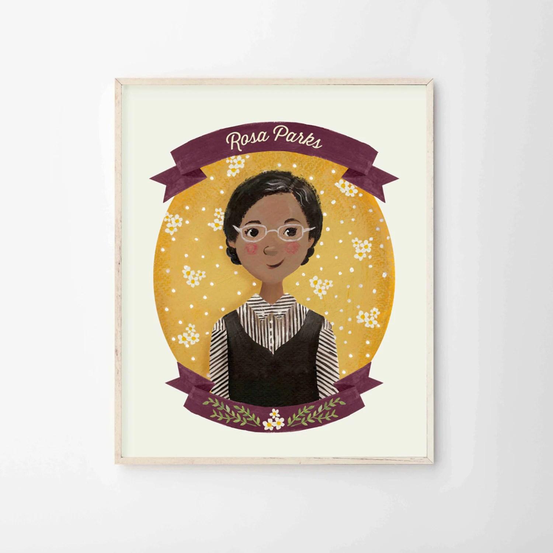 Rosa Parks Print Female Role Models Series Women Of