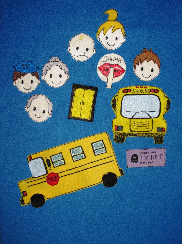 The Wheels On The Bus Felt Board Story Set Ece Preschool