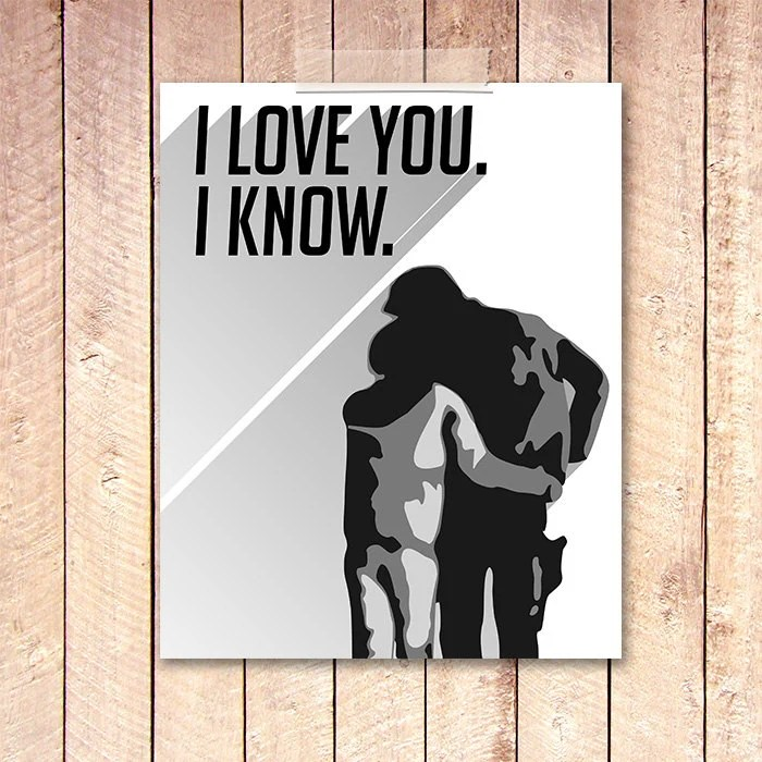 Download I love You I know Art Print 8x10 BOGO Star Wars Printable