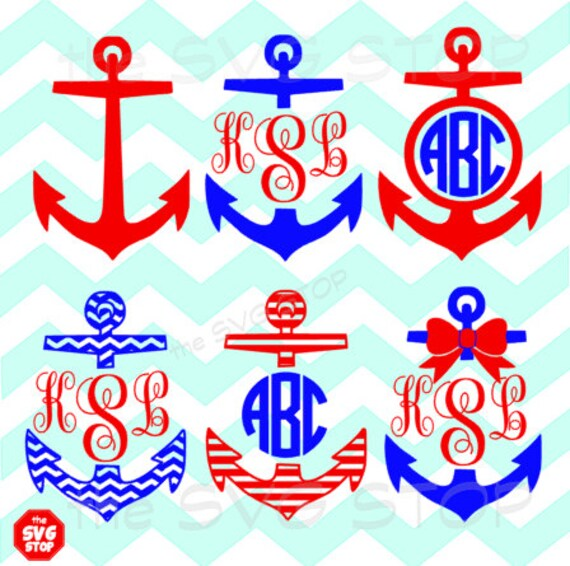 Download Anchor designs SVG and studio files for Cricut Silhouette