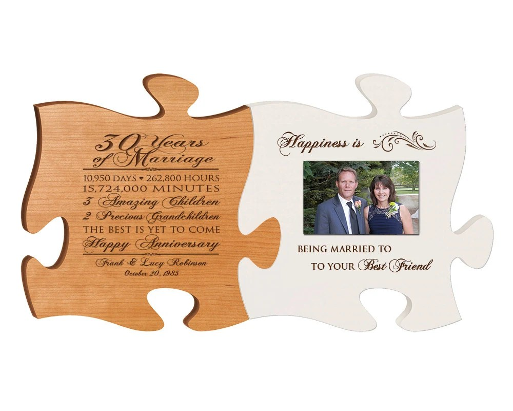 Personalized 30th Anniversary Gift For Him,30th Wedding