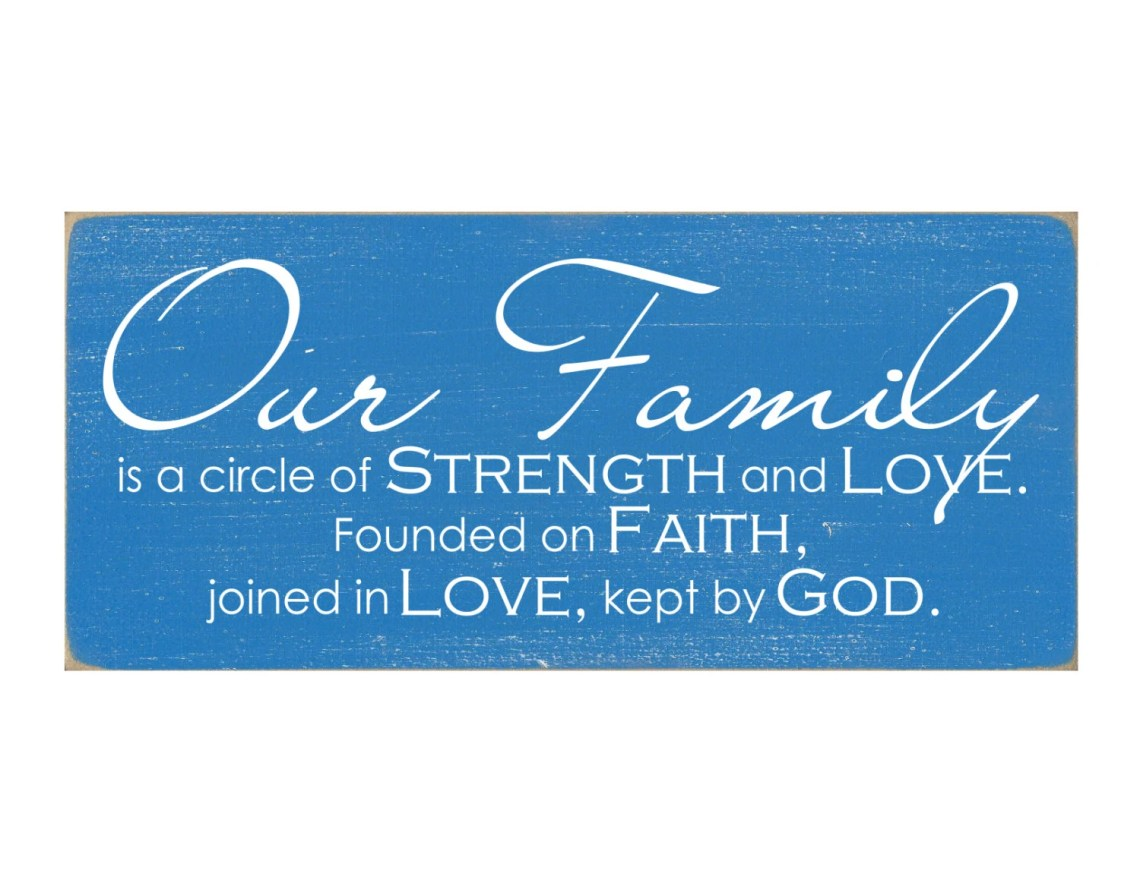 Download Our Family Is A Circle of Strength and Love by ...