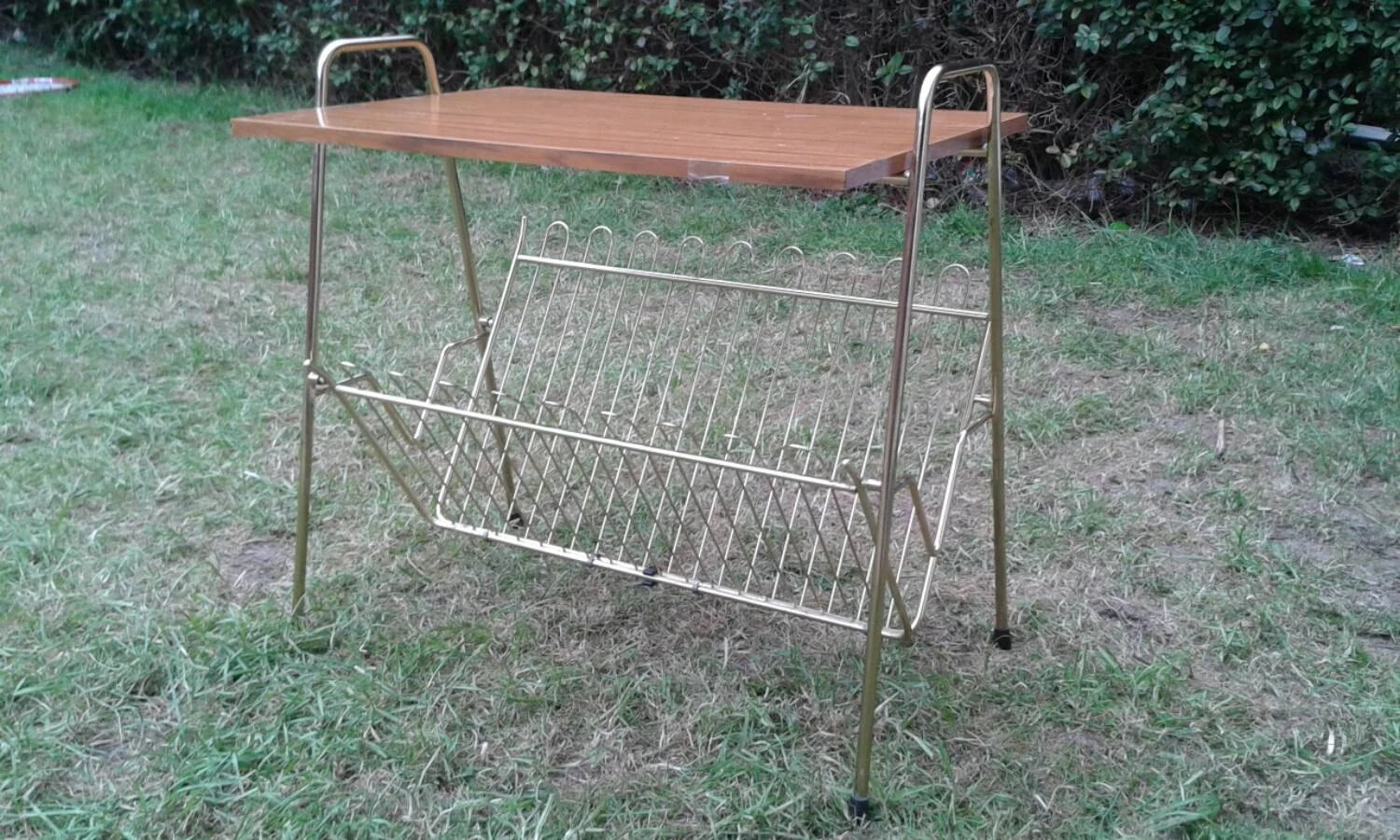 Magazine rack vintage rectangle top coffee table g plan for 60s style coffee table