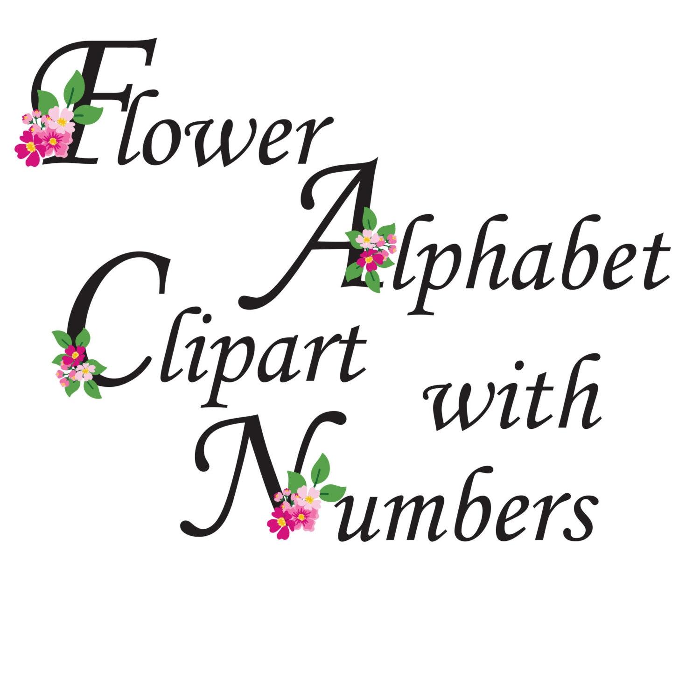 Flower Alphabet Clipart Floral Letters Flower Monogram