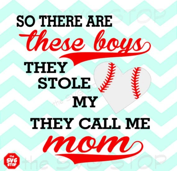 Download Baseball boy/boys stole my heart design SVG and studio files
